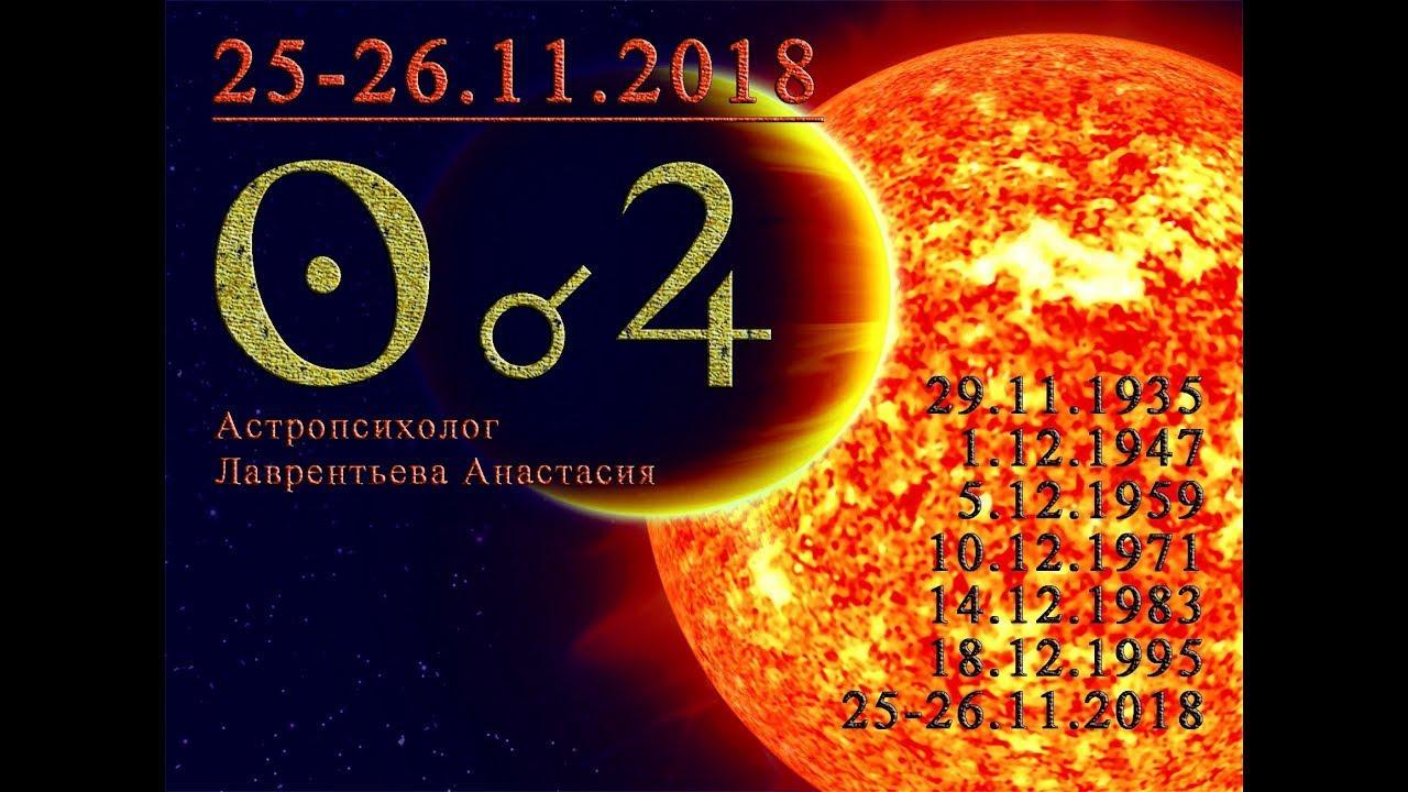 Соединение Юпитер-Солнце в Стрельце 26 ноября 2018. Анастасия Лаврентьева