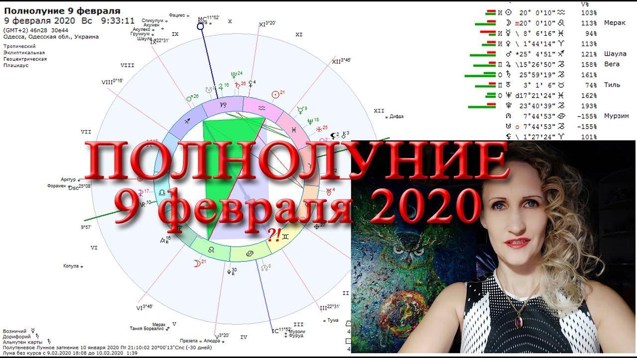 Полнолуние 9 февраля 2020 и Перемены. Анастасия Лаврентьева