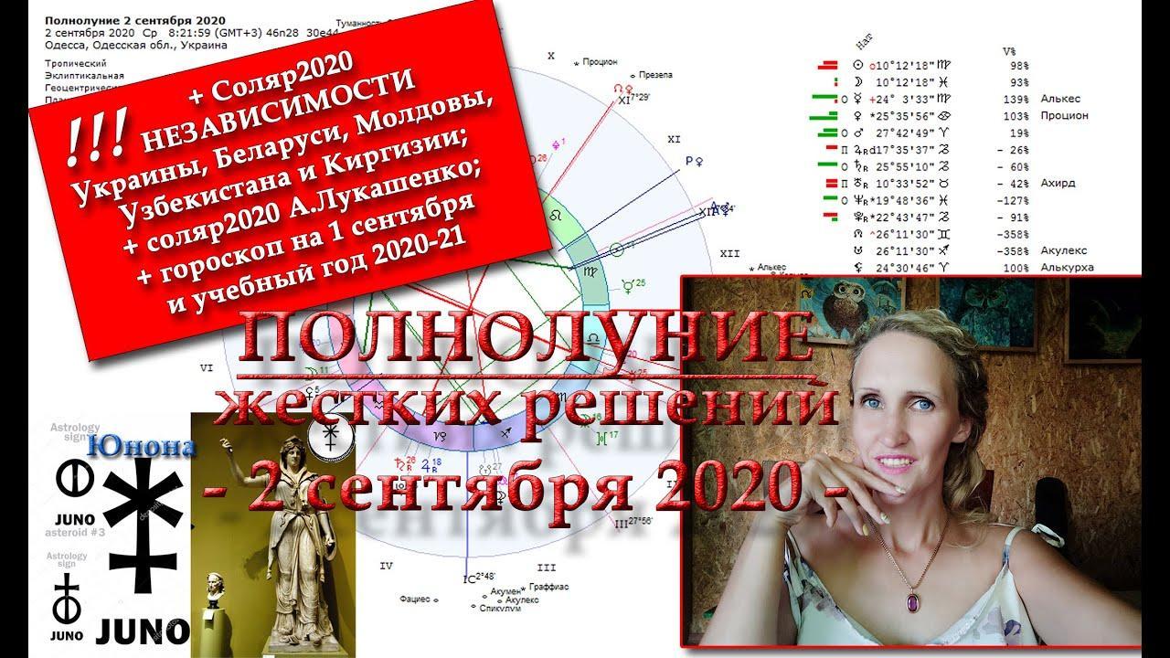 Полнолуние 02.09.2020: Кристаллизация и Юнона. Анастасия Лаврентьева