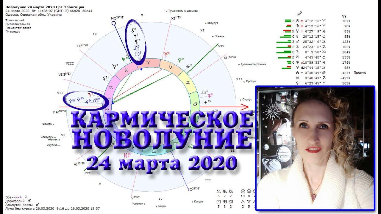 Кармическое новолуние 24 марта 2020. Срединная Точка и Элонгация. Анастасия Лаврентьева