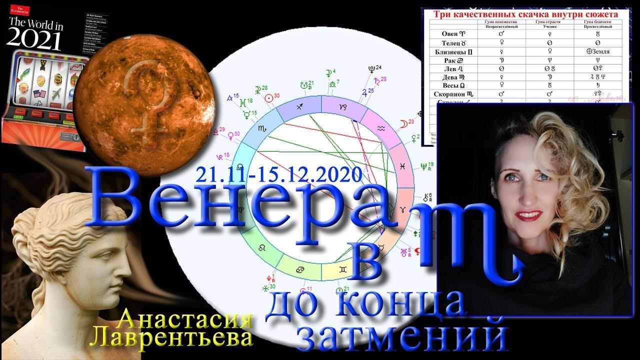Венера в Скорпионе в затмения 2020 и The Economist-2021. Анастасия Лаврентьева
