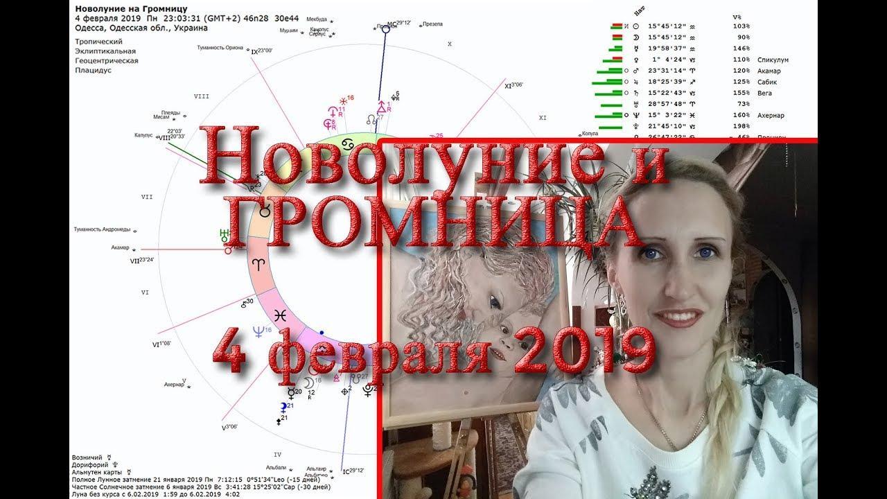 Новолуние и Громница 4 февраля 2019. Анастасия Лаврентьева
