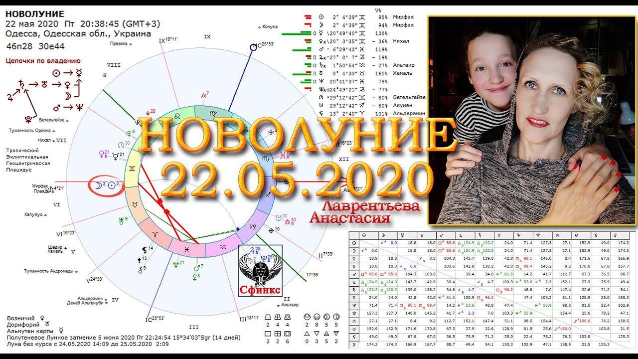 Новолуние 22 мая 2020: загадки и ключи накануне затмений. Анастасия Лаврентьева