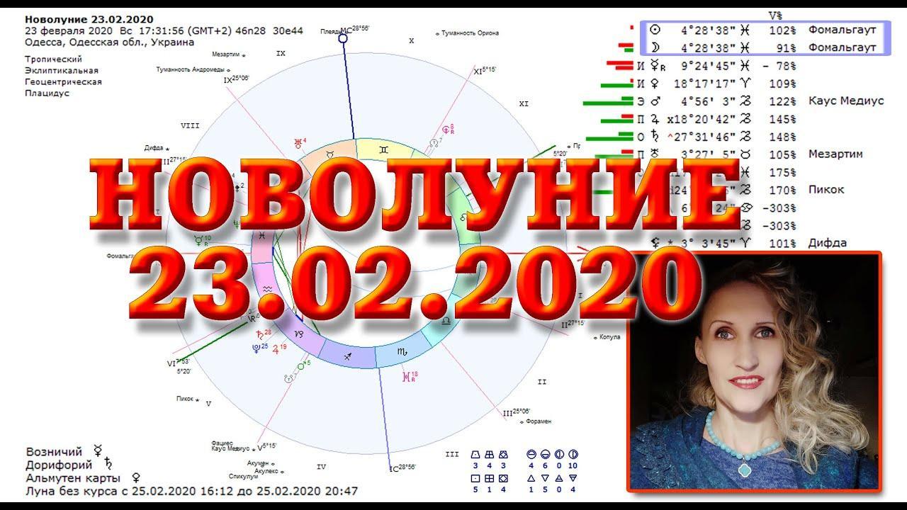 Новолуние 23 февраля 2020 заряжает надолго. Анастасия Лаврентьева