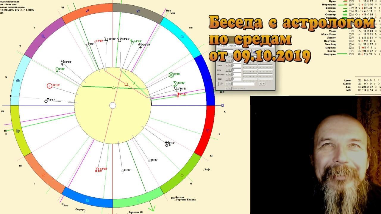 Беседы с астрологом по средам. Олег Боровик (09.10.19)