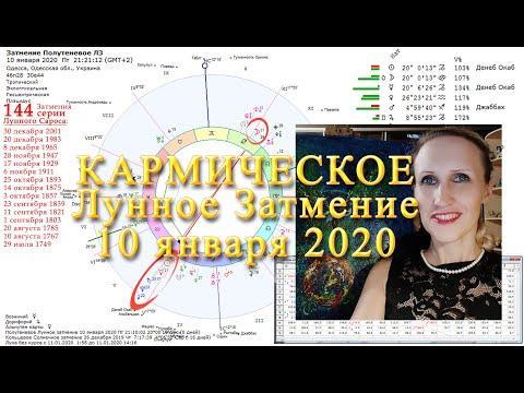 Кармическое Лунное Затмение - 10 января 2020. Прогноз. Анастасия Лаврентьева