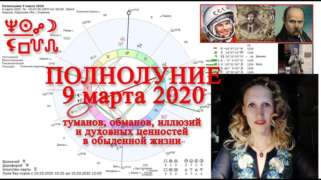 Полнолуние тайн 9 марта 2020 с Нептуном. СуперЛуние. Анастасия Лаврентьева