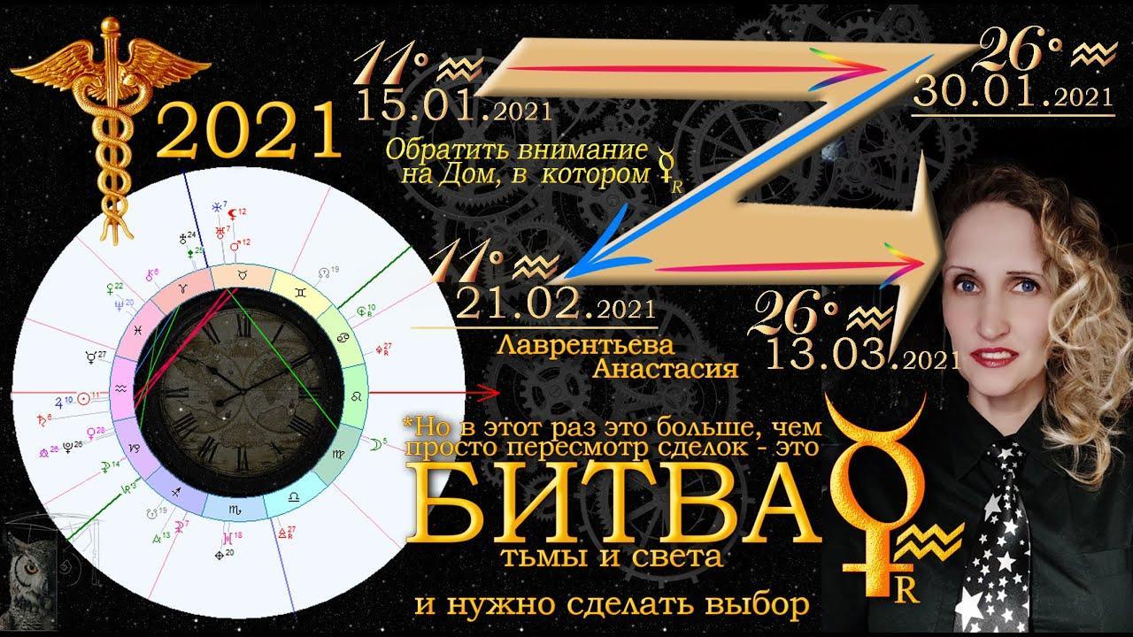 Ретроградный Меркурий 30.01-21.2. Анастасия Лаврентьева