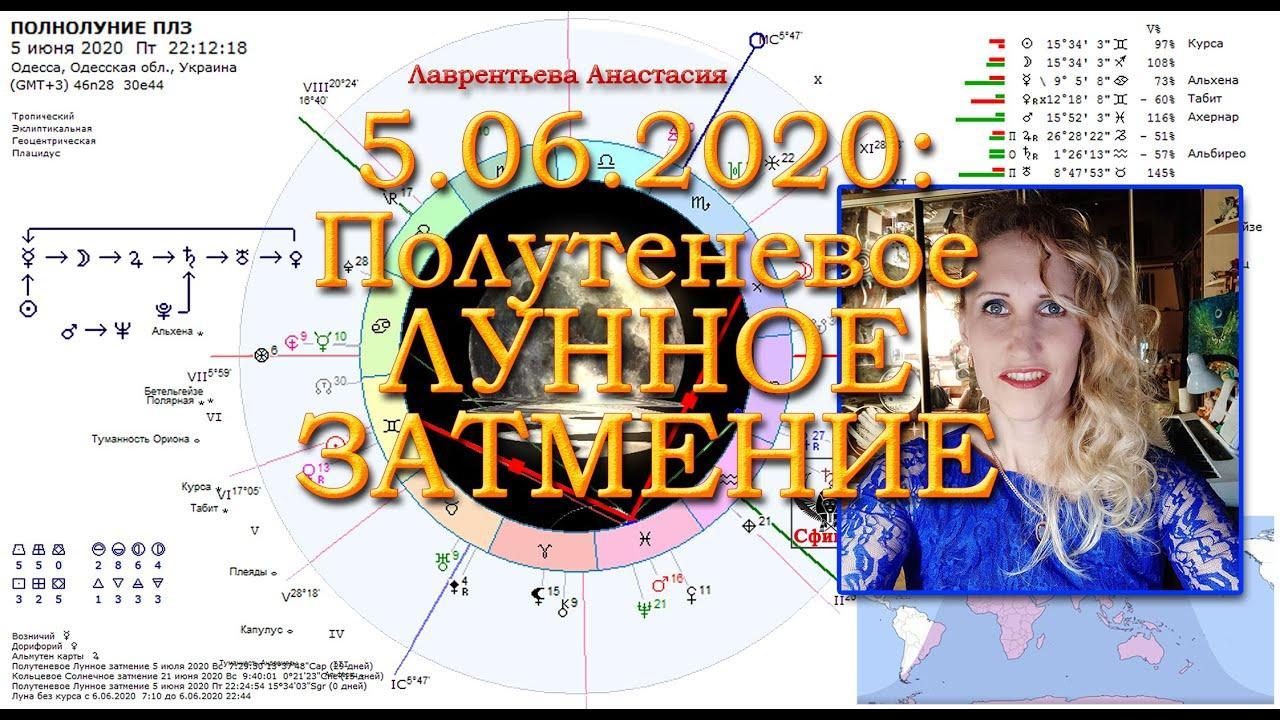 Полутеневое лунное затмение - 05.06.20. Анастасия Лаврентьева