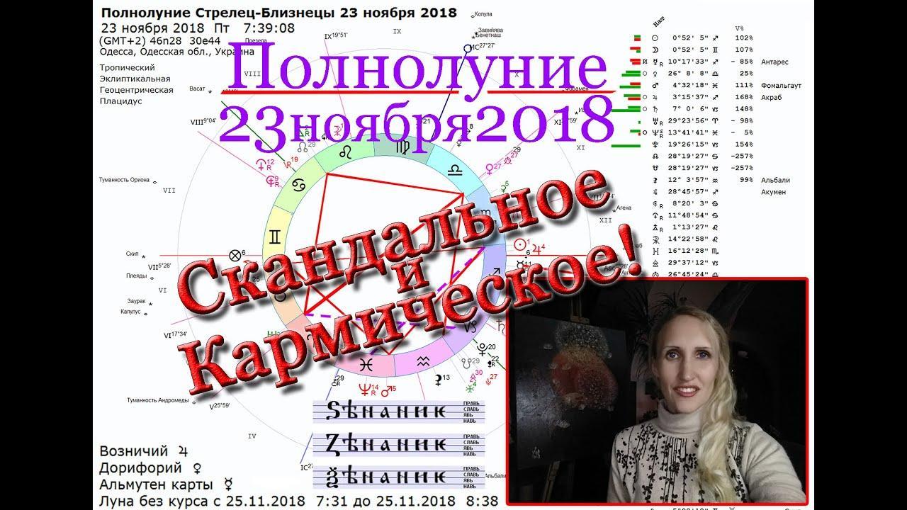 Кармическое полнолуние 23 ноября 2018 на оси Стрелец-Близнецы. Анастасия Лаврентьева